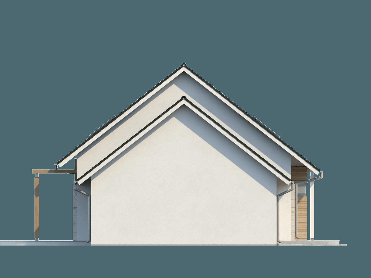 Gotowy projekt domu Z114 - Przytulny i komfortowy projekt domu z poddaszem, garażem i wykuszem.
