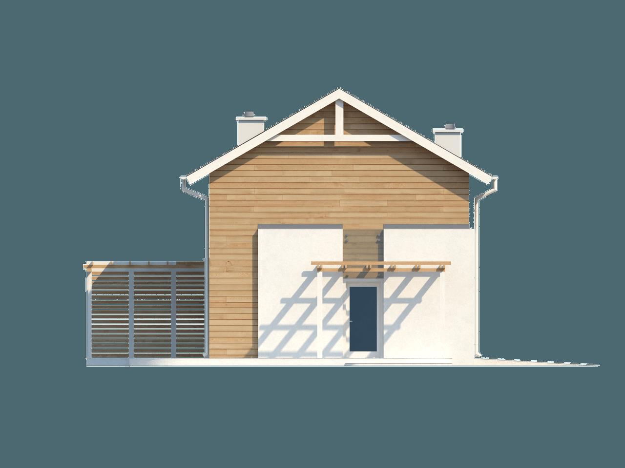 Mājas projekts Z115 - Divstāvu dzīvojamā māja ar terasi - Z115