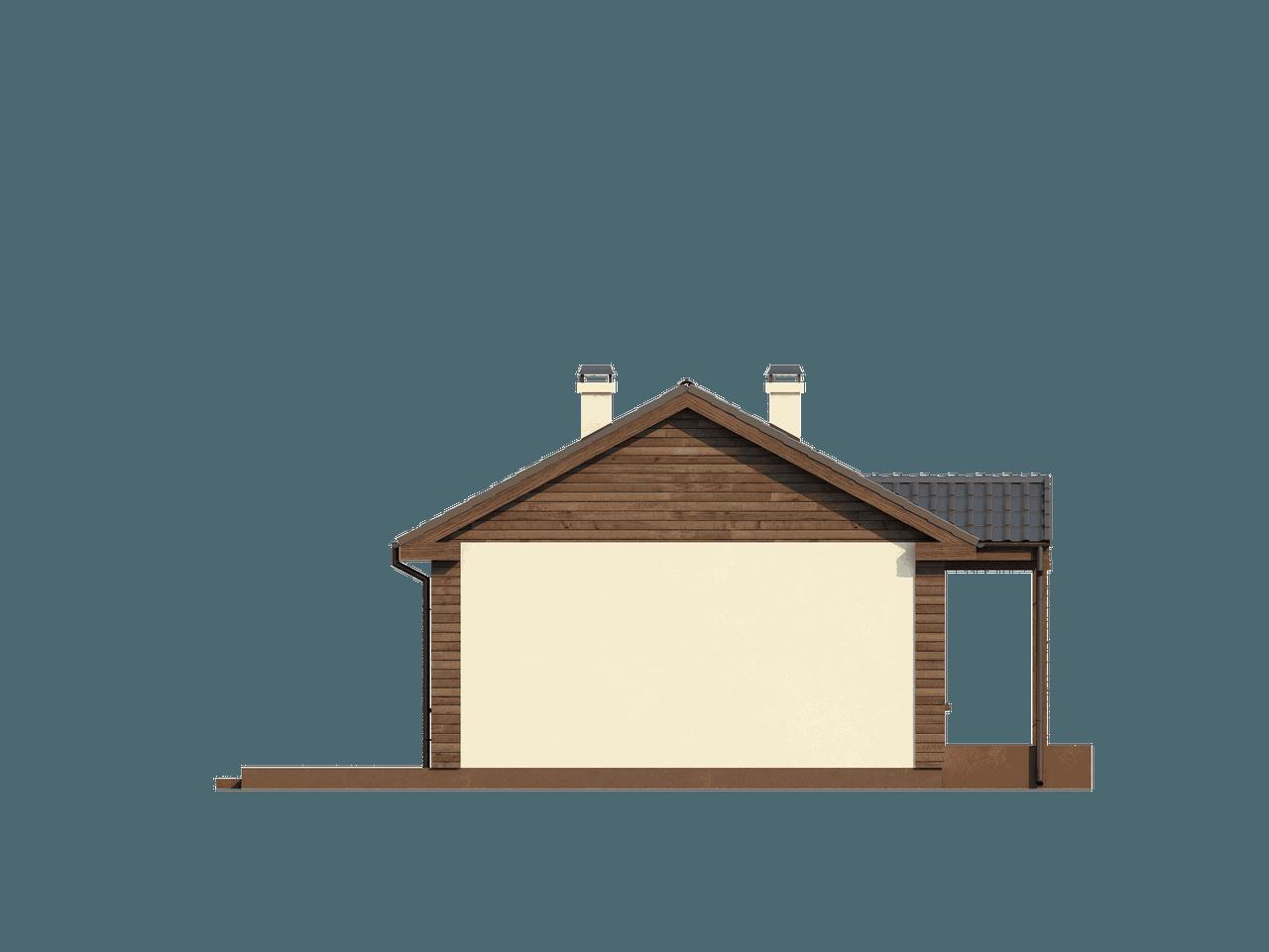 Gotowy projekt domu Z11 - Mały dom parterowy z dachem dwuspadowym. Tani w budowie i użytkowaniu.