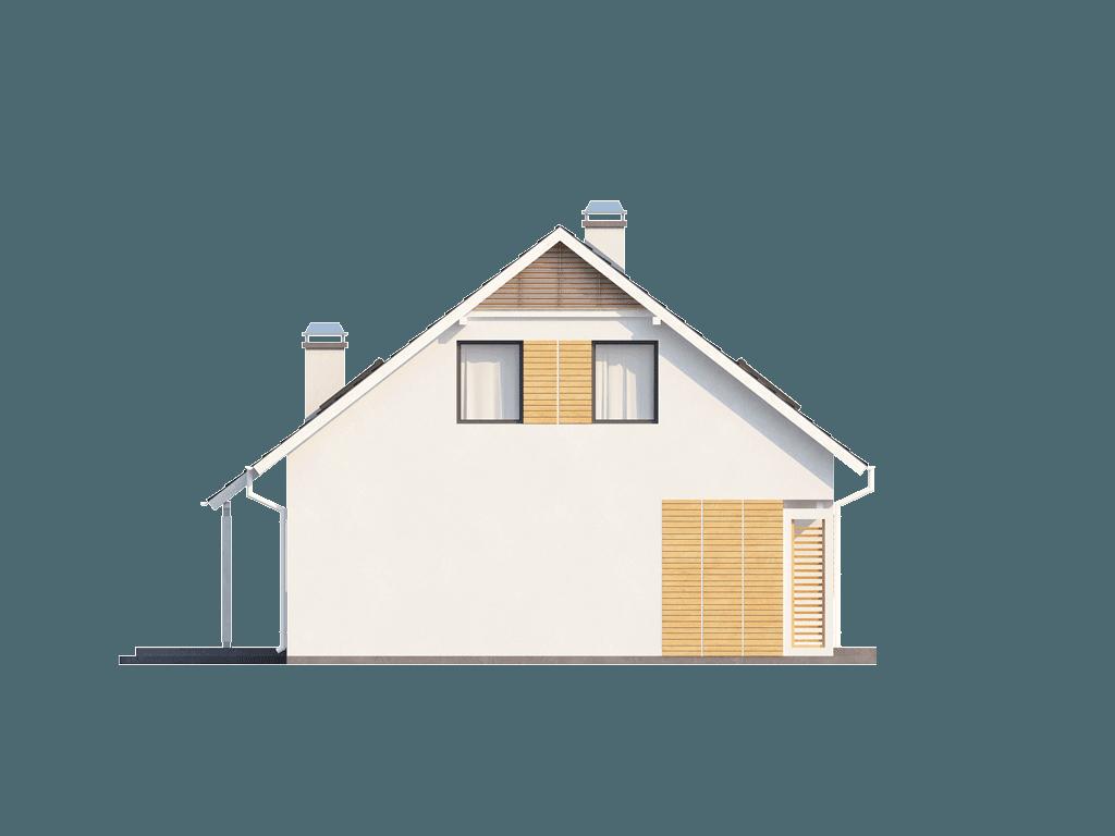 Gotowy projekt domu Z124 - Kompaktowy dom z garażem i wykuszem, ekonomiczny w budowie.
