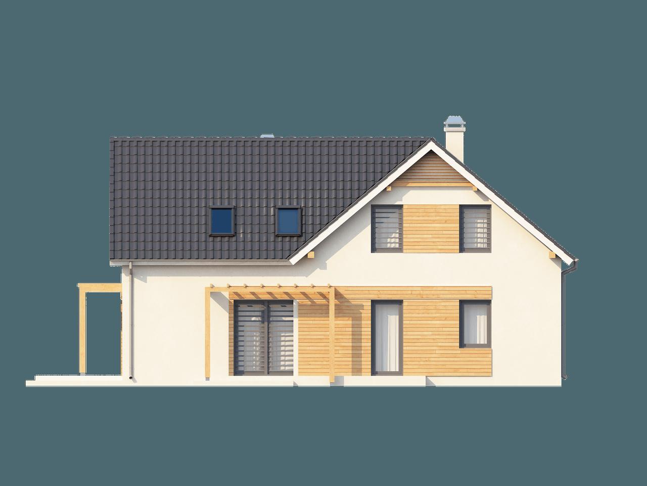 Gotowy projekt domu Z125 - Wygodnym dom z poddaszem, pokojem na parterze, garażem oraz dużym p.g.