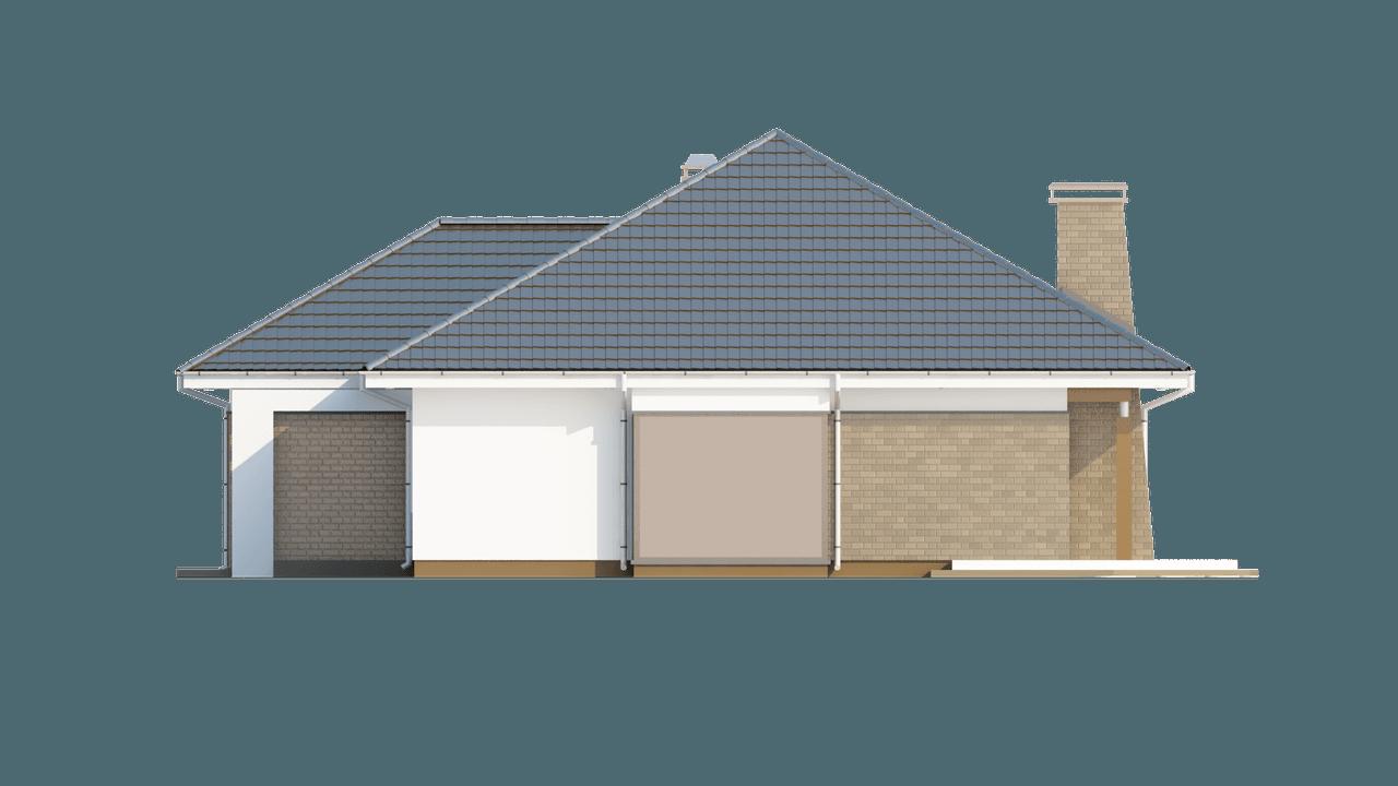 Gotowy projekt domu Z205 - Projekt domu parterowego z gabinetem z dostępem z zewnątrz.