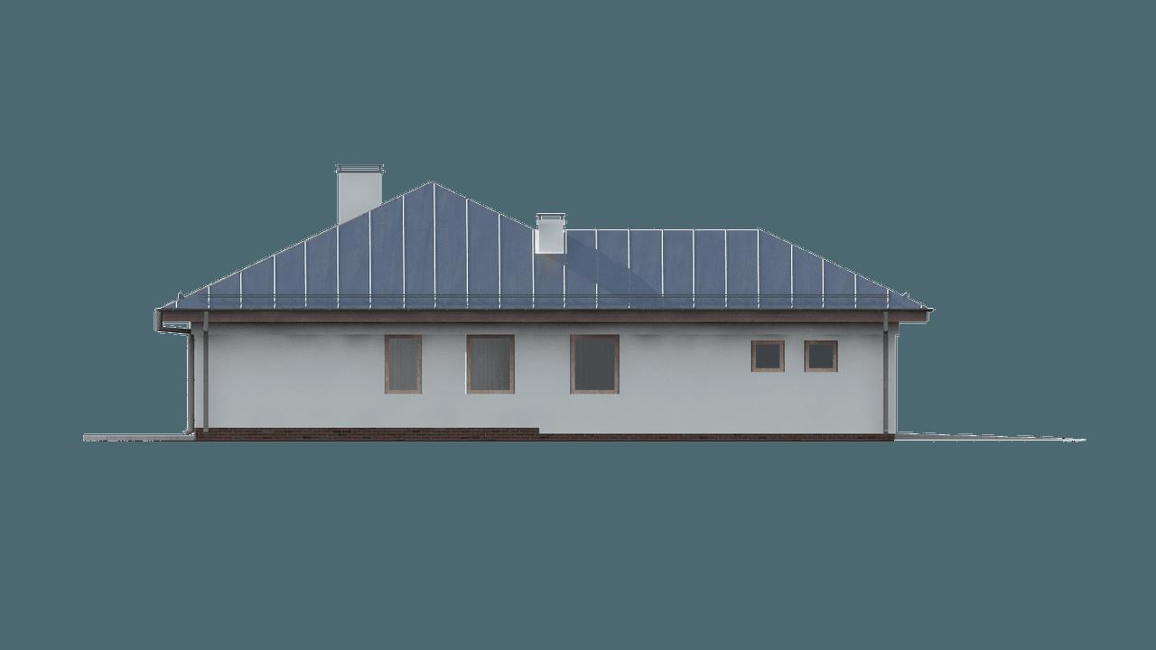 Gotowy projekt domu Z207 - Parterowy dom z funkcjonalnym wnętrzem, wykuszem oraz z garażem na 2 auta