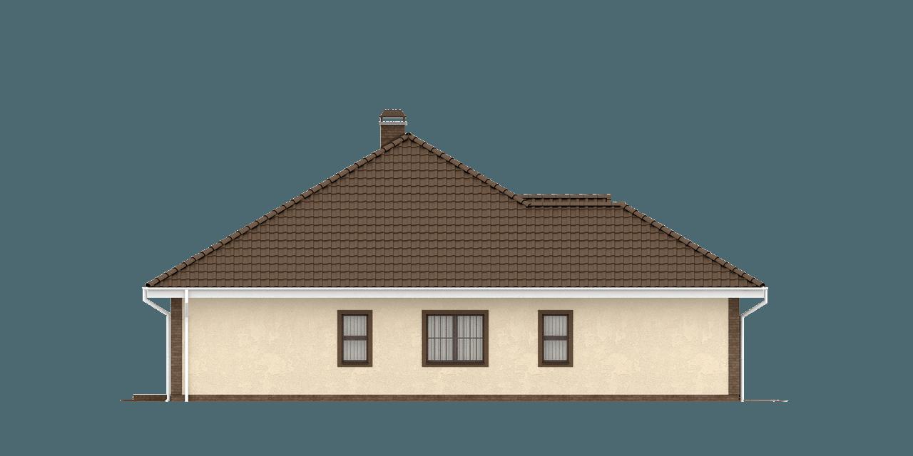 Gotowy projekt domu Z26 - Parterowy dom z garażem na dwa samochody, z wjazdem od frontu.