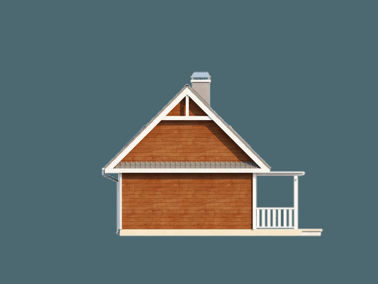 Gotowy projekt domu Z39 - Mały, przytulny dom z poddaszem, werandą od frontu, przekryty dachem dwuspadowym