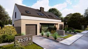 Zb39 - Dom-bliźniak o powierzchni 98 m2 z garażem w bryle oraz 3 sypialniami.