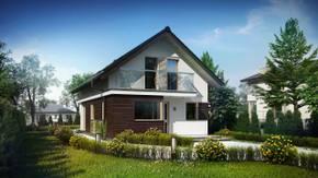 Z296 - Przytulny dom jednorodzinny z użytkowym poddaszem, na wąską działkę