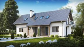 Z184 - Zgrabny dom jednorodzinny dwulokalowy