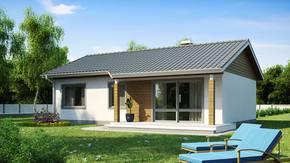 Z7 - Mały dom z dachem dwuspadowym, ekonomiczny, funkcjonalny i praktyczny