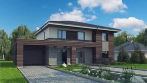 Zx109 - Prosty tradycyjny dom z elementami nowoczesnego wykończenia.
