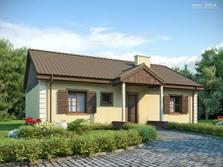 Projekt Domu Z93 Parterowy Dom Z Nowoczesnym Wykuszem 3 Sypialniami