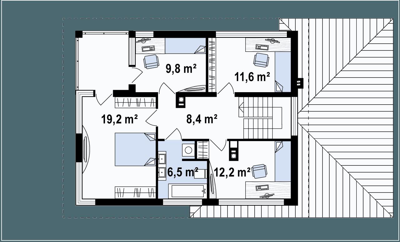 Mansardos/aukšto planas