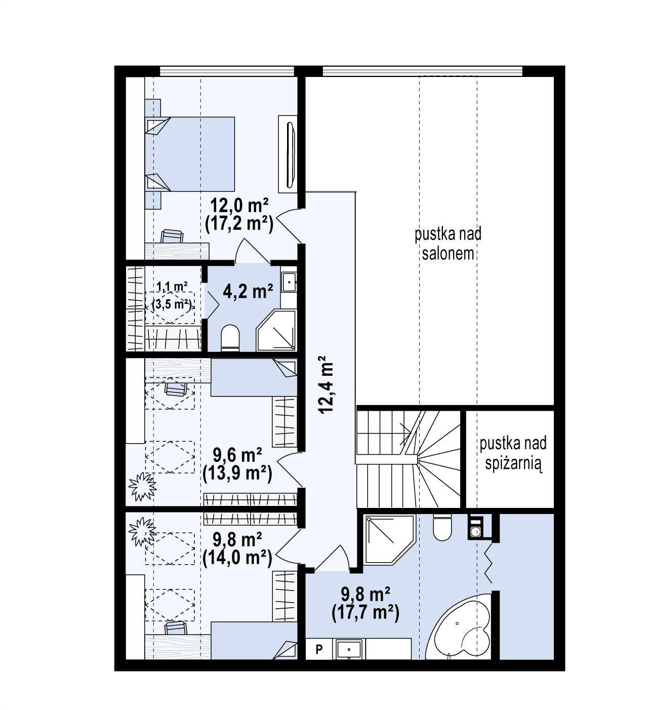 The attic / floor plan