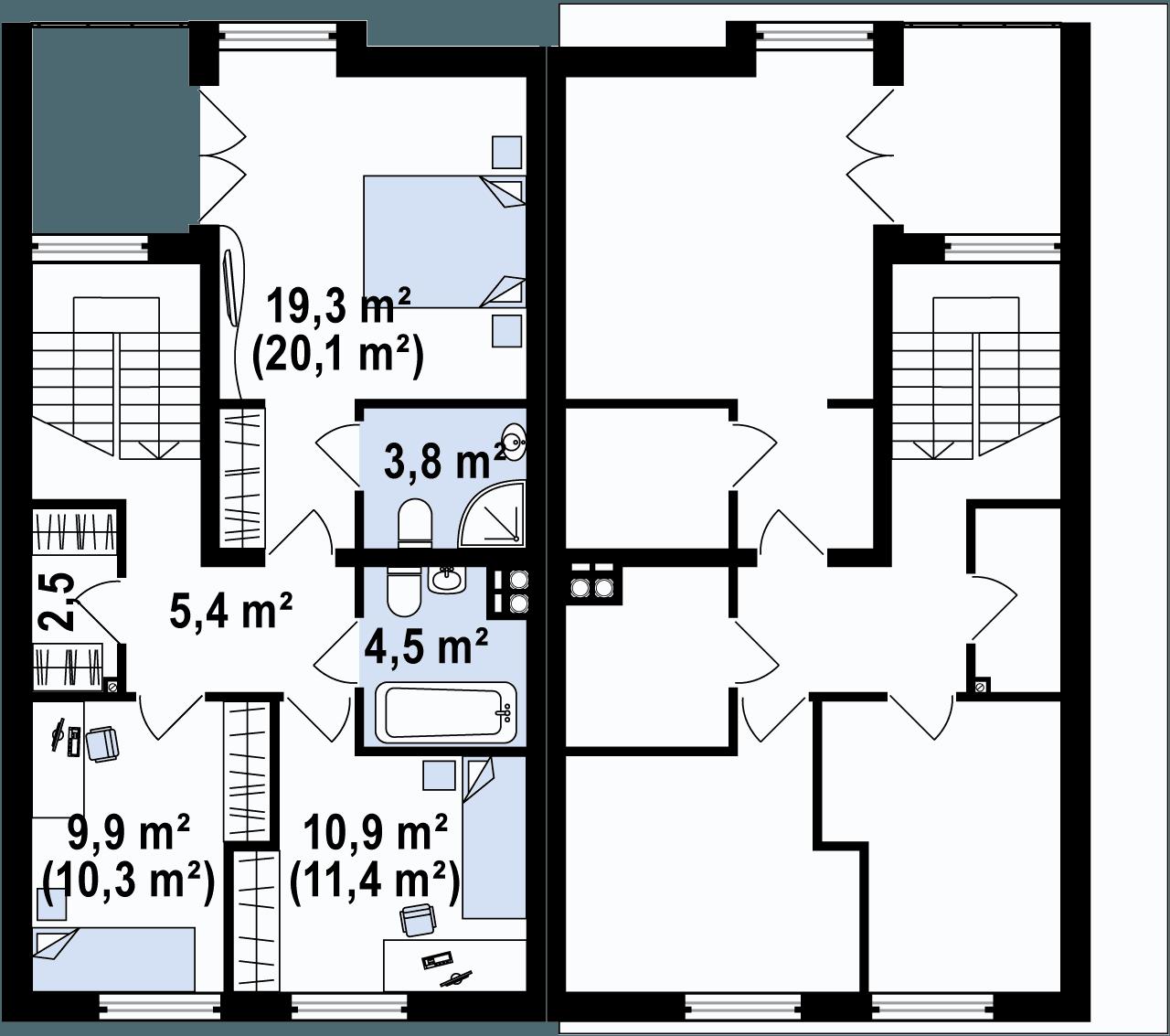 Rzut poddasza/piętra