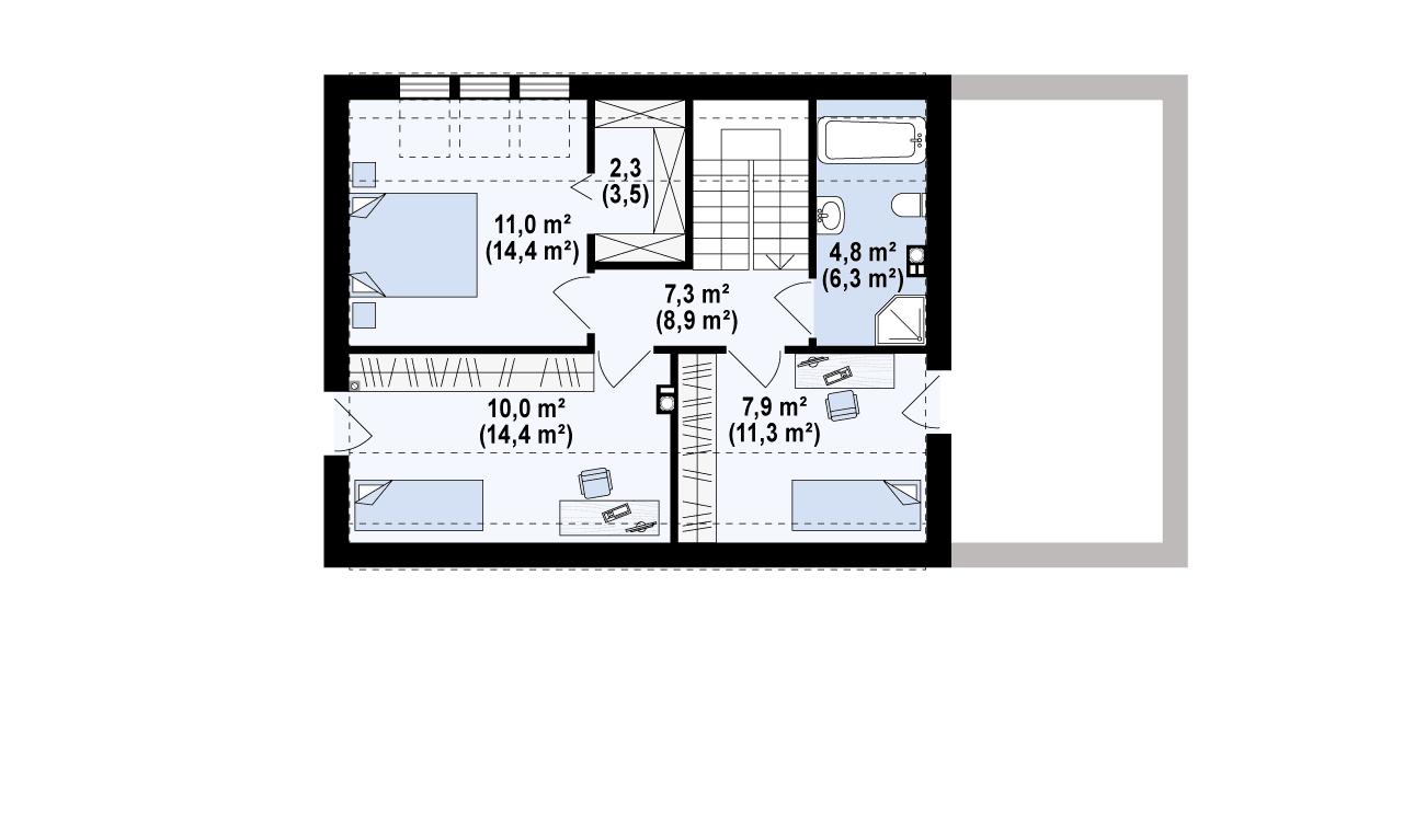 The attic / floor plan