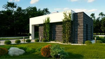 Zx256 - Nowoczesny, niewielki dom z przestronnym tarasem