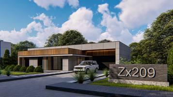 Zx209 to propozycja nowoczesnego domu parterowego o powierzchni użytkowej ok 130m2.