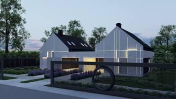 Zb37 to propozycja  współczesnego bliźniaka o powierzchni 123 m2.