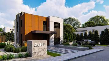 Zx165 to propozycja nowoczesnego domu o powierzchni użytkowej  ok 130m2!