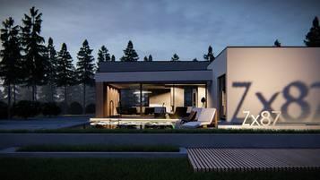 Zx87 - nowoczesny dom parterowy o ponadczasowym designie