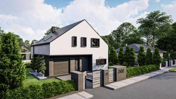 Z432 to propozycja współczesnego domu z dachem dwuspadowym.