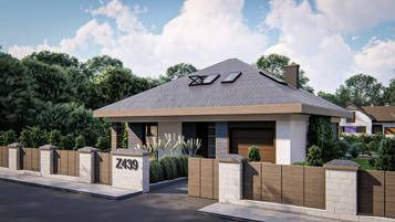 Z439  to projekt współczesnego domu z poddaszem użytkowym.