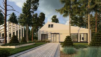 Z516 całoroczny dom idealny na działkę